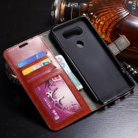 Quality Shock Resistant LG V20 Wallet Case Slim Fit Synthetic PU With Card Slot Function wholesale