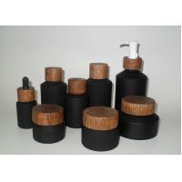 Quality Eco Friendly Durable Black Cosmetic Bottles For Facial Cream Skin Care Product wholesale