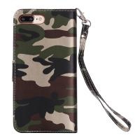 Quality Camouflage IPhone Leather Wallet Case For Iphone 7 Plus Crazy Horse 64g wholesale