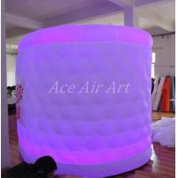 Cheap white oval type lighting inflatable tent for photo booth with 1 door enclosure for sale