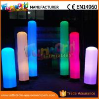 Cheap Christmas Party / Wedding Inflatable LED Lighting Pillar 1 Year Warranty for sale