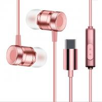 Quality USB Type-C Earbuds Magnetic Wired In ear Headphone Super Bass Music Earphone Earbuds wholesale