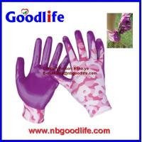 China CE approved sandy foam nitrile glove nitrile dipped gloves on sale