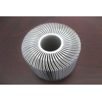 Quality Silver Anodized Aluminum Etrusion Profiles use for Alumiunm Heat Sink wholesale