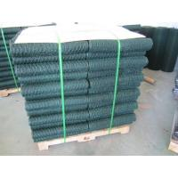 Quality 6005 Vinyl Coated Green Wire Netting / 25mm Galvanized Poultry Netting wholesale