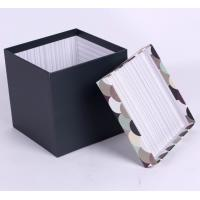 China Leather Paper Board Box For Luxury Gift Packing, Rigid Gift Boxes With High Density Sponge Tray on sale
