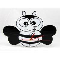 Quality Kids Lovely Bee Quartz Analog Diy Wall Clock Quiet For Promotion Gift , Unique wholesale