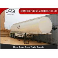 Quality 10000 Gallon Fuel Tanker Semi Trailer , 3 Cabins Gasoline Semi Truck wholesale