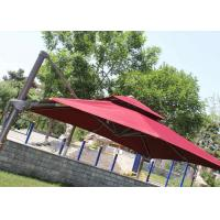 Quality 2.5m Mini Roma Cantilever Garden Umbrella With Marble Base , Red Double Layer wholesale