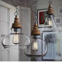 Quality Industrial Glass Ball Pendant Lights Farmhouse Kitchen Dining room Lighting (WH-GP-29) wholesale