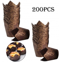 China Birthday Party Muffin Brown Mini Tulip Paper Cupcake Liners on sale