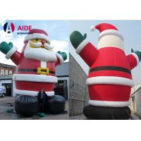 Quality Inflatable Christmas Decorations Blow Up Santa , Christmas Inflatables Outdoor wholesale