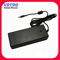 Cheap 60W 24V 5A Desktop Switching Power Supply For LED Strip / CCTV , 50 - 60Hz for sale