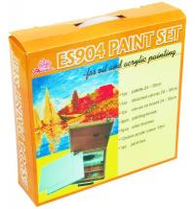 Quality 5pcs Painting Brushes Acrylic Art Set Drawing Kits For Beginners 12pcs Acrylic Colour 12ml wholesale