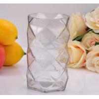 Quality Clear Diamond replacement votive glass candle holders By Mouth Blown Processing wholesale