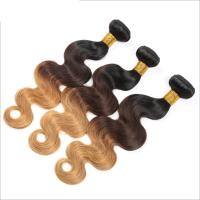 Quality Brazilian 3 Tone Ombre Hair Extensions , Ombre Human Hair Bundles wholesale