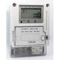 China IC Card Electricity Prepaid Meter Class 1S Accuracy Single Phase Power Meter on sale