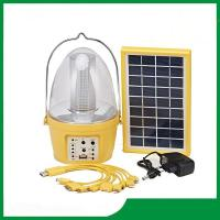 Quality Led camping solar lantern with solar panel, mobile phone charger, FM radio function for camping lighting wholesale