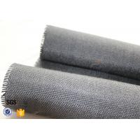 Cheap 800g Black Vermiculite Coated Fiberglass Fabric For Fire Blanket for sale