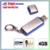 China 4GB USB Keychain Digital Voice Recorder, Hidden Recording, Long Time Recording on sale