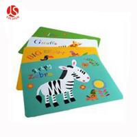 China Cartoon Animals Zebra Printed Disposable Plastic Placemat on sale