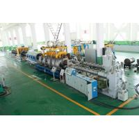 PE Double Wall Corrugated Pipe Double Screw Extruder / Pvc Pipe Making Machine