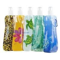 Quality Portable ultralight foldable soft flask bottle outdoor sport hiking camping water bag,sport foldable 480ml reusable camp wholesale