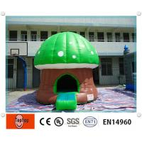 Quality Small Cute Mushroom inflatable bouncy castle , Commercial Inflatable Bouncers for hire wholesale