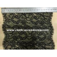 China Customized Sequin Lace Trim Black / 10 Floral Lace Trimmed Romantic on sale