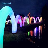 Buy cheap 2017 New 8m Inflatable Light Arch with Blower for Party and Exhibition product