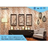 Floral Pattern Luxury Non Woven Wallcovering Modern Lounge Wallpaper