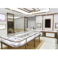 Quality Luxury Design Showroom Display Cases Eco - Friendly Material Covered With Glass Panels wholesale