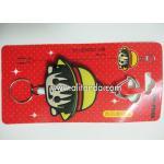 China Custom retractable pvc wrap cartoon girls design badge reel plastic pull reel with clip for sale