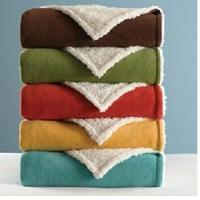 Quality Sherpa Microfleece Reversible Blanket or Throw wholesale