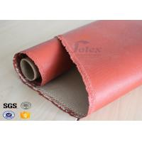 Quality 1200 Degree Silicone Coated Glass Cloth , Heat Resistant Fabric Fiberglass wholesale