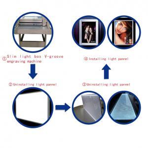 China Advertising LED LGP light box glasswork acrylic pmma V cutter groove engraving machine on sale