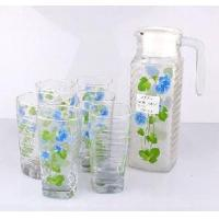 Quality Glass Drinking Ware/ Jug+Mug Set wholesale