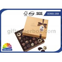 Quality High End Chocolate Packaging Box with Ribbon for Valentine's Day Gifts Packaging wholesale