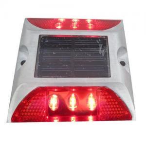 Quality Die Casting Aluminum Solar LED Road Stud 6 LEDS Powered By Mono Crystalline Solar Panel wholesale
