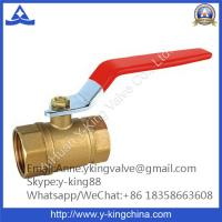 Quality Wog 400 Brass Ball Valve with Red Steel Handle wholesale