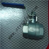 Quality 2 PC Stainless Steel Threaded Floating Ball Valve wholesale