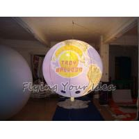 Quality 170mm Tether Points Inflatable Lighting globe Balloon for Entertainment events wholesale
