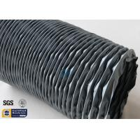 Quality Flexible Air Duct PVC Coated Fiberglass Fabric Grey 200MM 10M 260℃ Waterproof wholesale