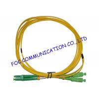 Quality Flame Resistant SM Fiber Optic Patch Cord G.652D LC / APC - SC / APC LSZH Jacket wholesale