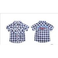Quality PH code 7.3 Short Sleeve Lapel 100% Cotton Kids Plaid Shirts, Casual shirts For Summer wholesale