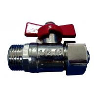 China CFull Port Nickel Plated Brass Ball Valve Locking Handle For Gas on sale