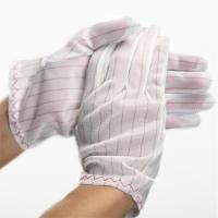 Quality 100% polyester fabric ESD Stripped Glove wholesale