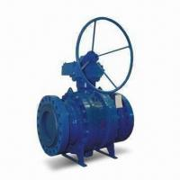 China Metal Seal Trunnion Ball Valve with Anti-static Structure and Actuator Device Plate on sale