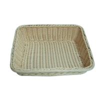 Quality Hand Woven Supermarket Rattan Storage Baskets For Bread Display wholesale