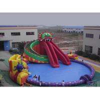 Quality Large Scale Inflatable Water Parks / Dragon Pool And Slide Inflatables wholesale
